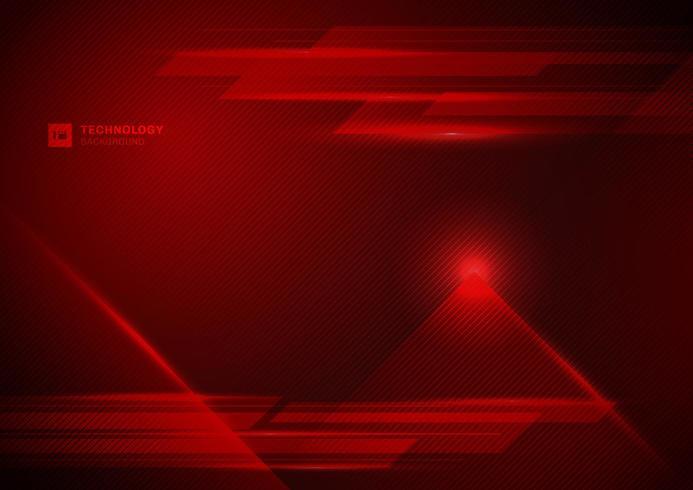 Conceito futurista de tecnologia abstrata digital de fundo de raio de luz vermelha vetor