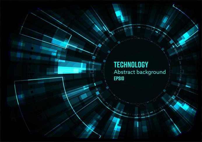 Conceito abstrato de tecnologia digital vetor