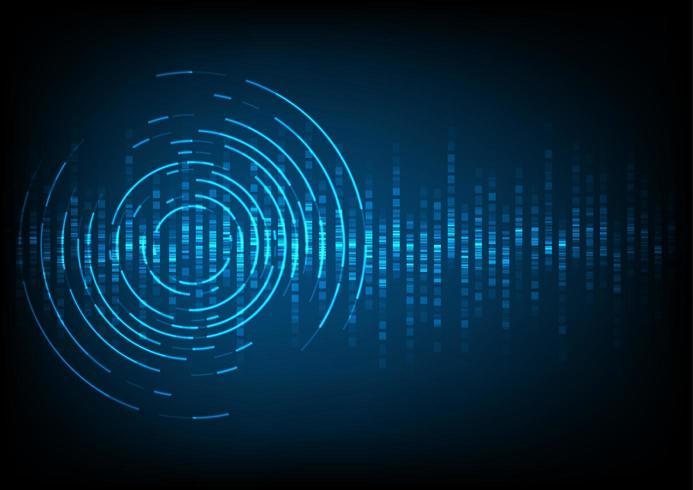 fundo abstrato onda de som digital vetor