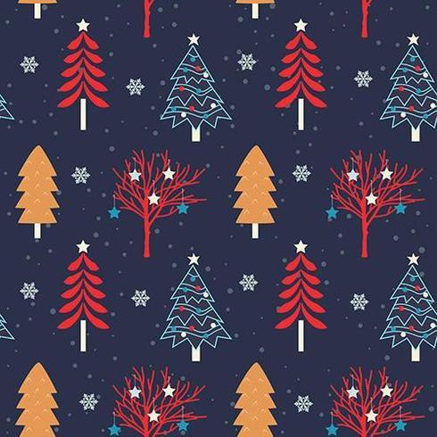 Padrão sem emenda de árvore de Natal vetor