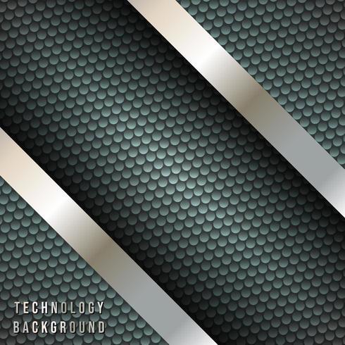 Listras diagonais metálicas, cenário de design techno vetor