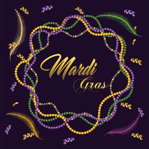 decoração colar para celebração mardi gras vetor