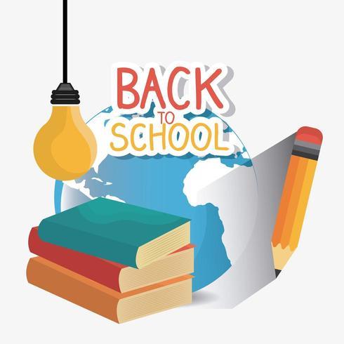 Volta para o projeto de temporada escolar vetor