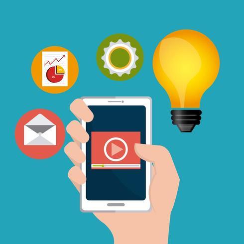 Design de marketing digital vetor