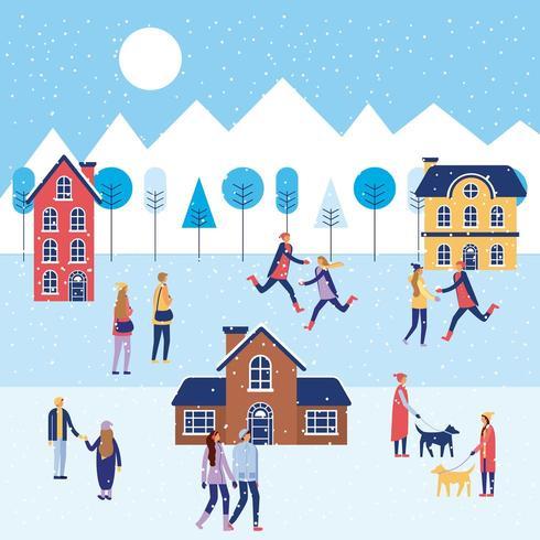 férias de inverno natal vetor