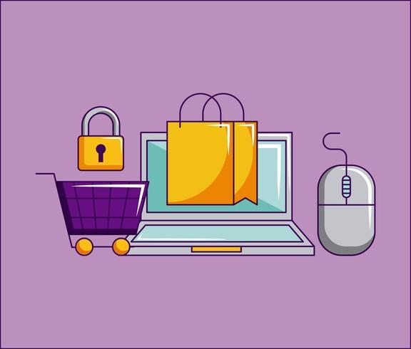 cyber segunda-feira loja vetor