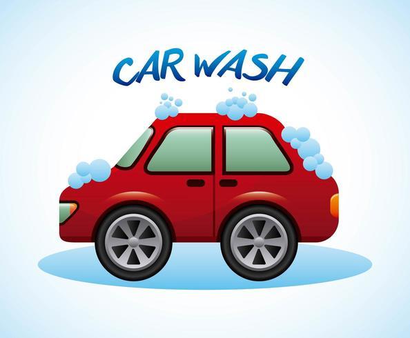projeto de lavagem de carro vetor