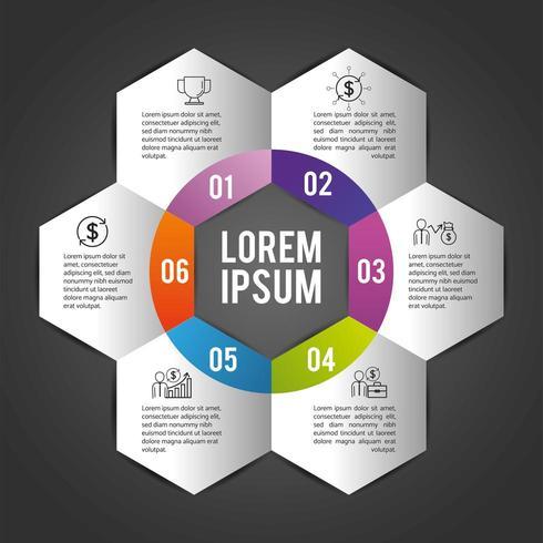 plano de negócios infográfico com lorem ipsum vetor