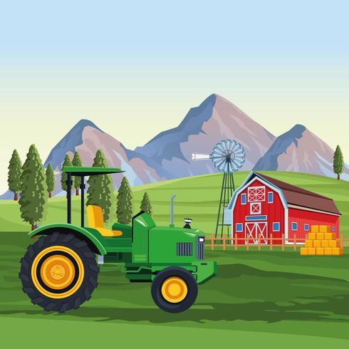 Veículo trator agrícola vetor