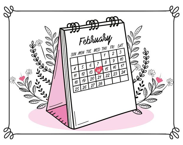 feliz dia dos namorados celebração em 14 de fevereiro vetor