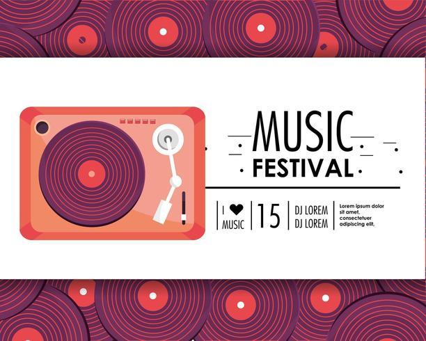 equipamento de rádio para celebração do festival de música vetor