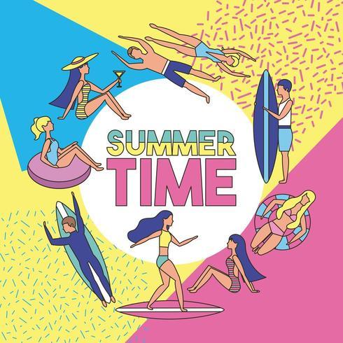 férias de verão vetor