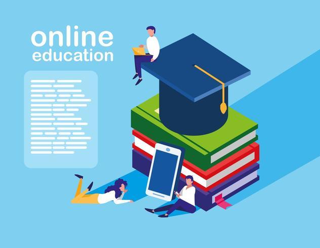 Página de educação on-line vetor