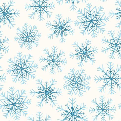 Padrão sem emenda com flocos de neve vetor