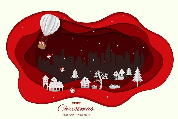 Feliz Natal e Feliz Ano Novo vetor