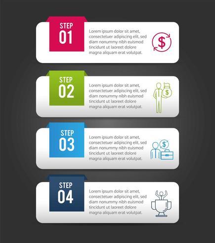 informações de relatório de estratégia de infográfico de negócios vetor