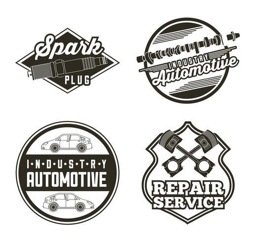 serviço automotivo automotivo da indústria vetor