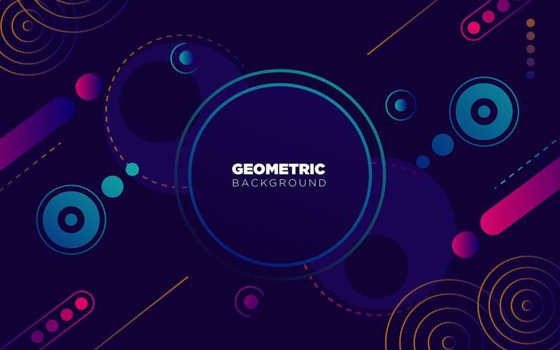 fundo geométrico e abstrato colorido, com cor de néon roxo e azul vetor