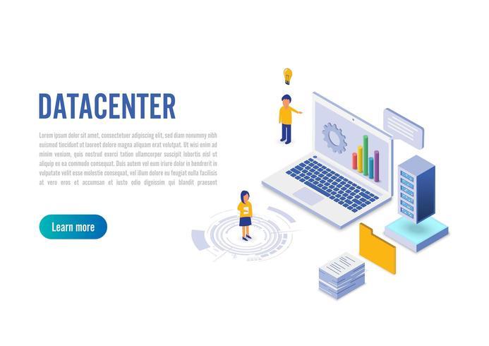 Administrador de conexão com o datacenter da Internet vetor