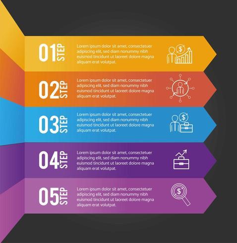 informações do plano de dados de infográfico de negócios vetor