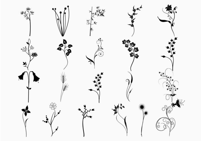 Pacote de vetores de plantas