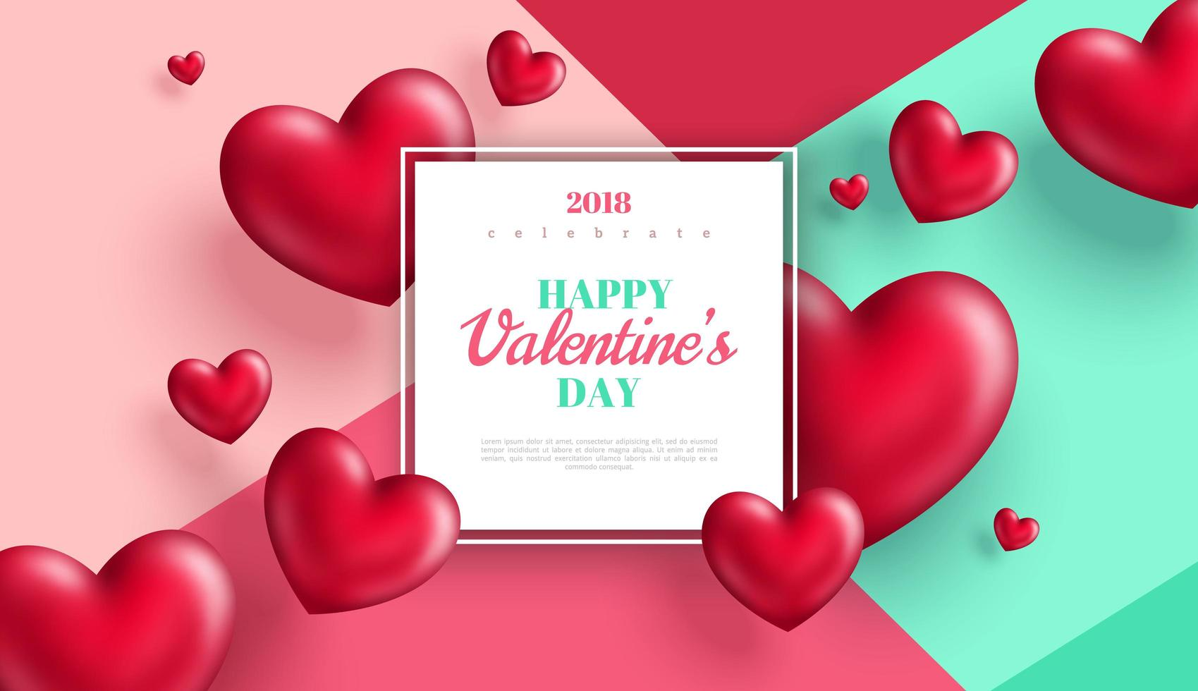 Dia dos namorados banner ou cartão de felicitações vetor