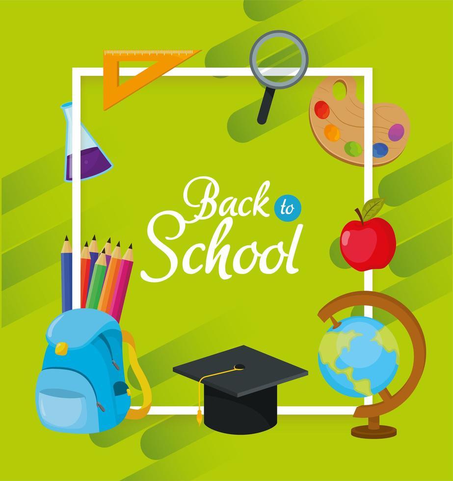 volta à escola educação acessórios design vetor