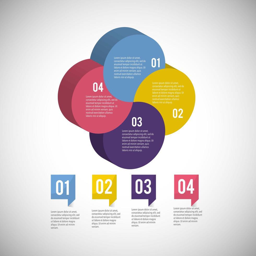informações de diagrama de negócios infográfico isométrica vetor