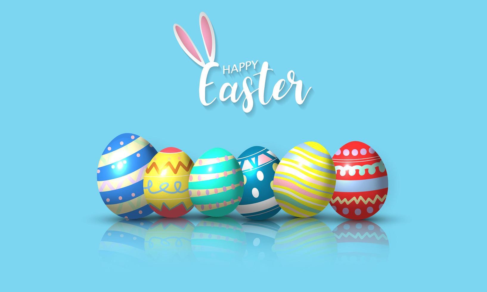 Feliz Páscoa fundo vetor