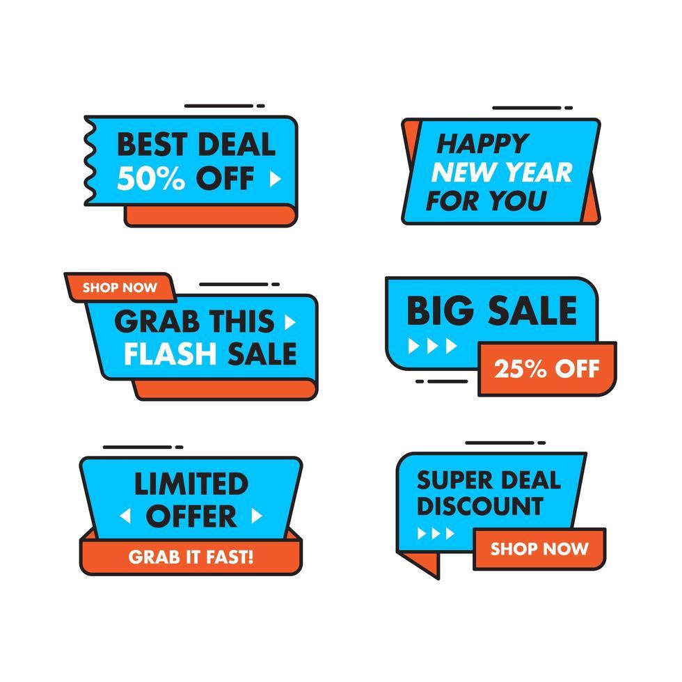 Definir coleção Design de modelo de banner de venda vetor