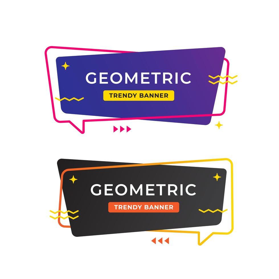 Design de modelo de banner de venda geométrico vetor