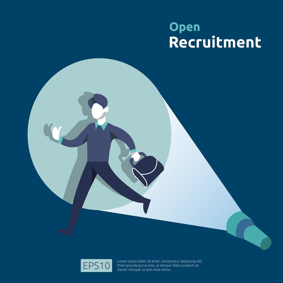 Conceito de contratação de recrutamento aberto vetor