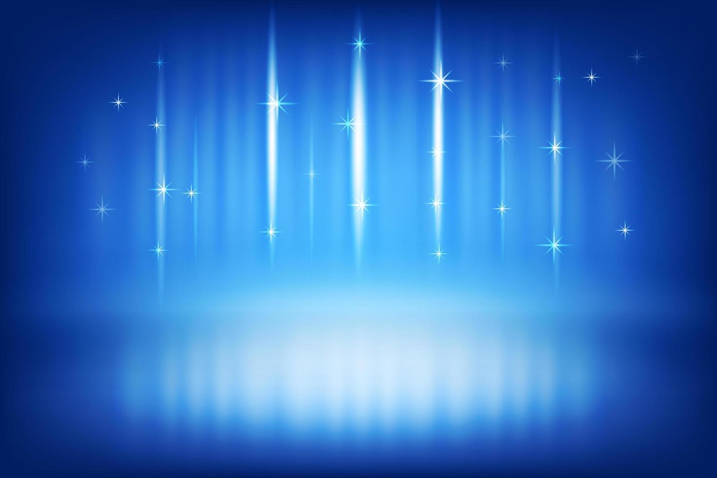 fundo azul escuro de palco e prêmio vetor