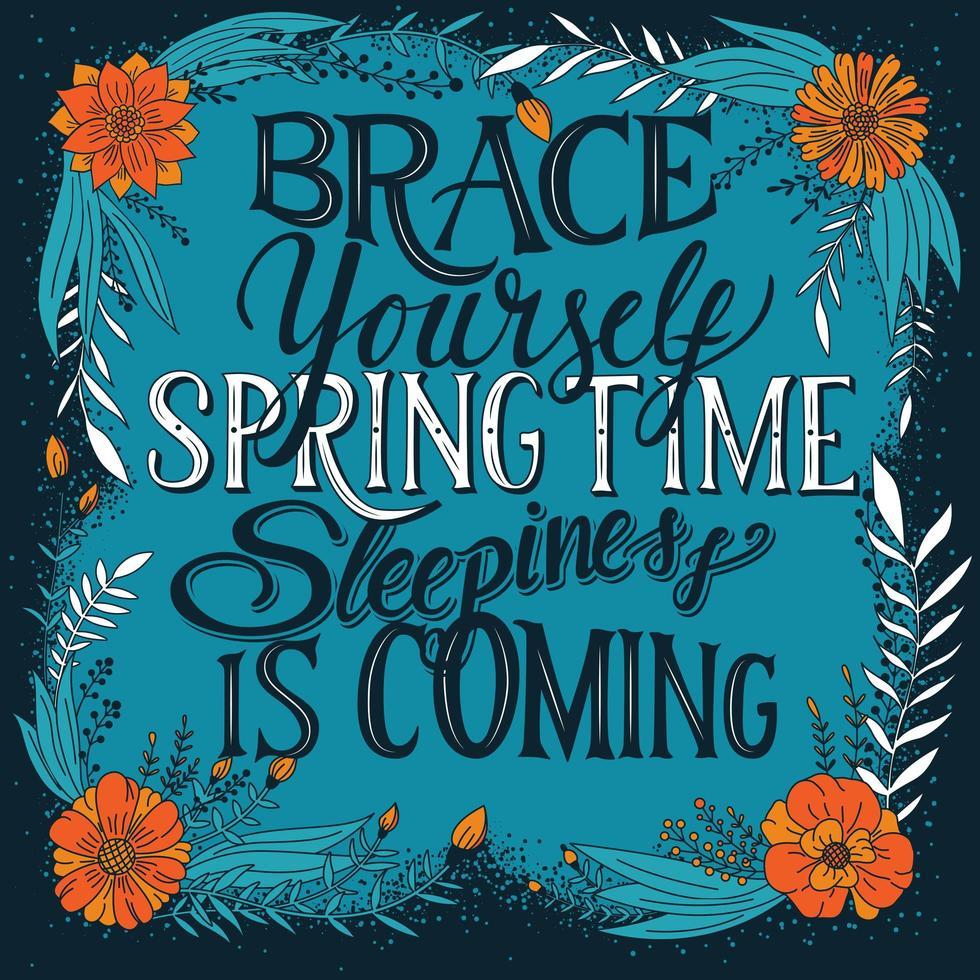Prepare-se primavera sonolência está chegando vetor