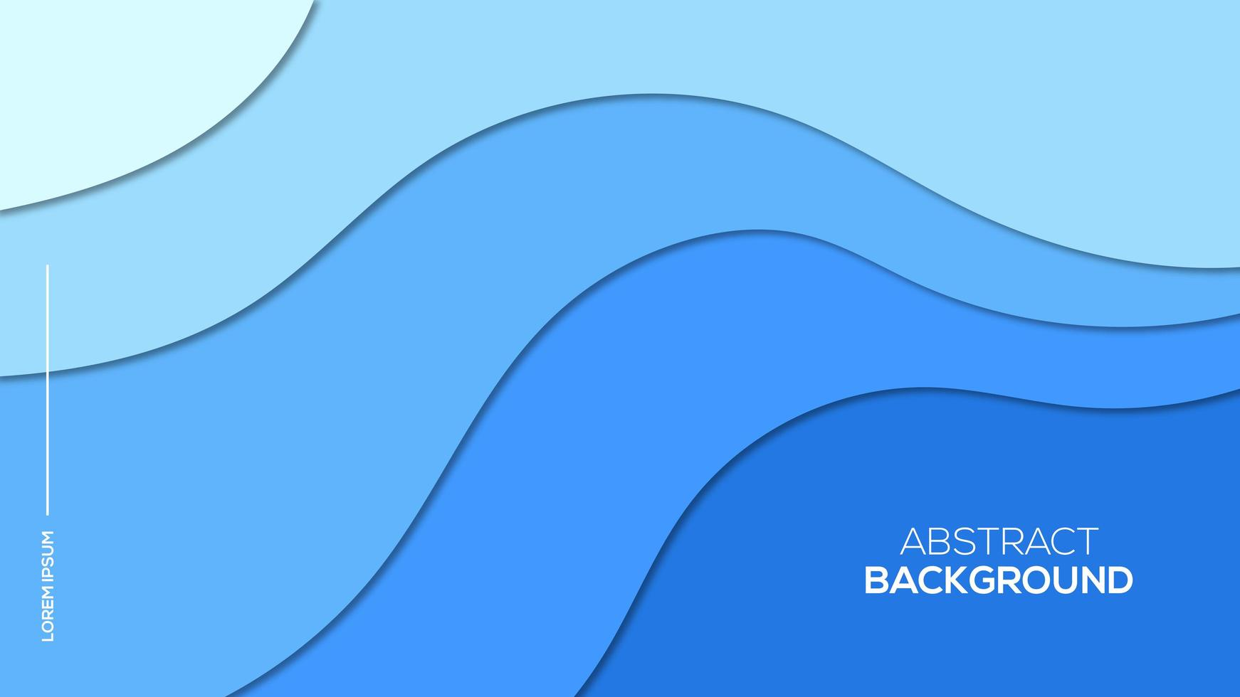 papel 3d azul cortado estilo poster vetor