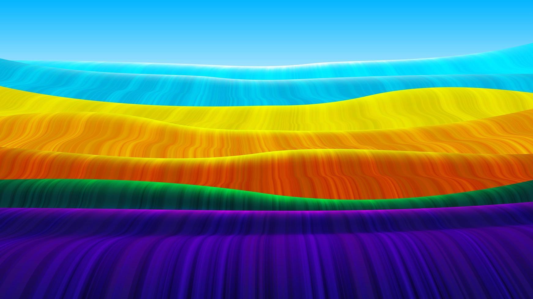 arco-íris abstrato fluindo padrão de onda vetor