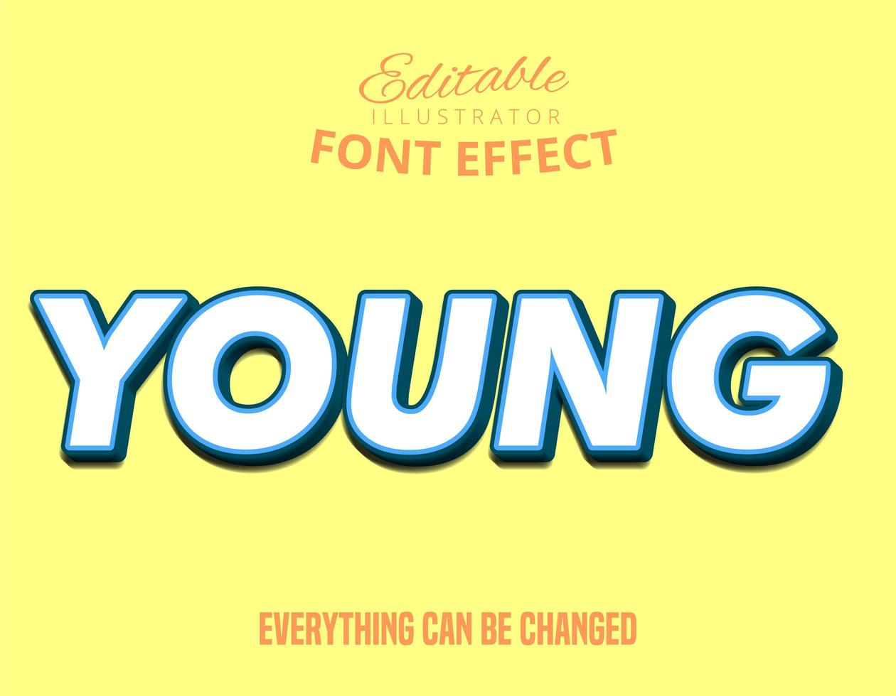 tipo de letra editável colorido jovem vetor