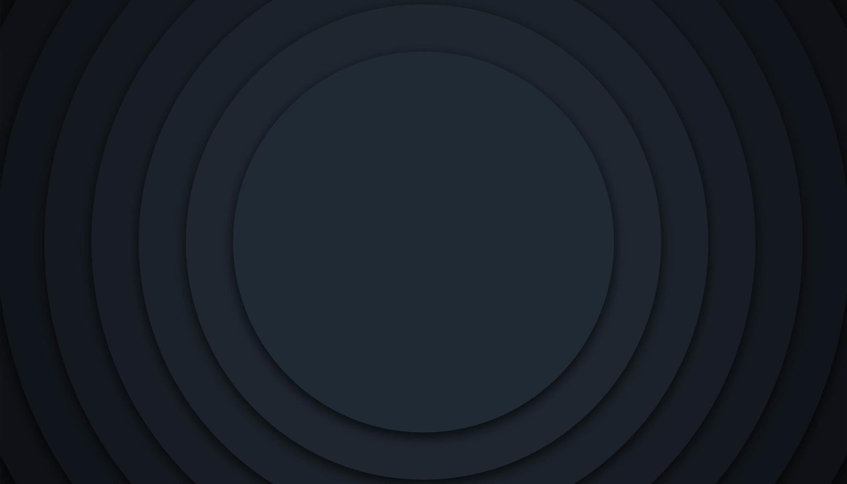 design em camadas geométrico circular preto vetor
