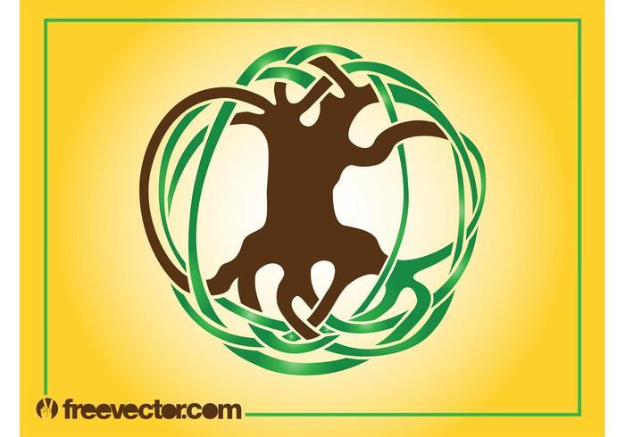Logotipo abstrato da árvore vetor