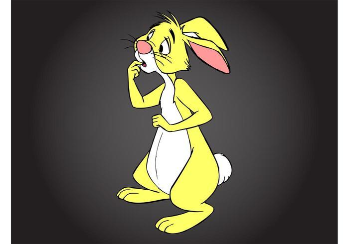 Winnie the Pooh Rabbit vetor