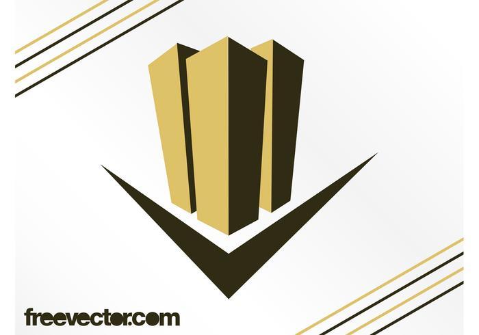 Design do logotipo dos arranha-céus vetor