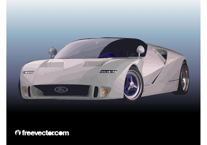 Carro de corrida ford vetor