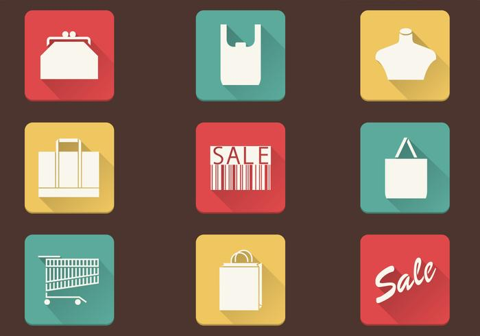 Compras Simples Icons Vector Pack
