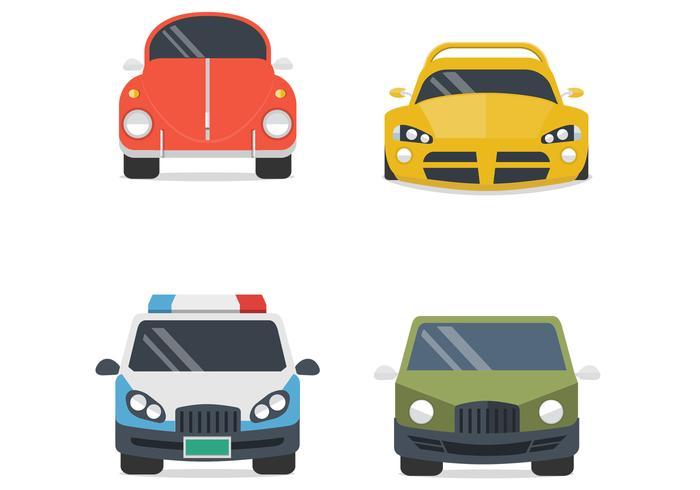 Vários conjuntos de vetores de carros
