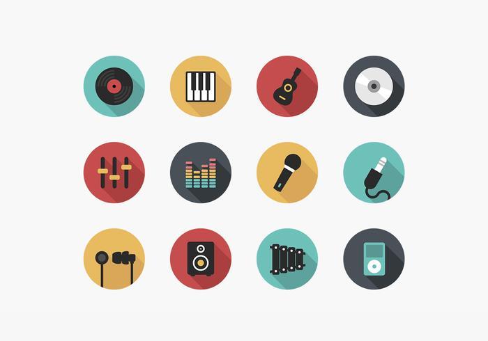 Pacote de vetores de ícones de música