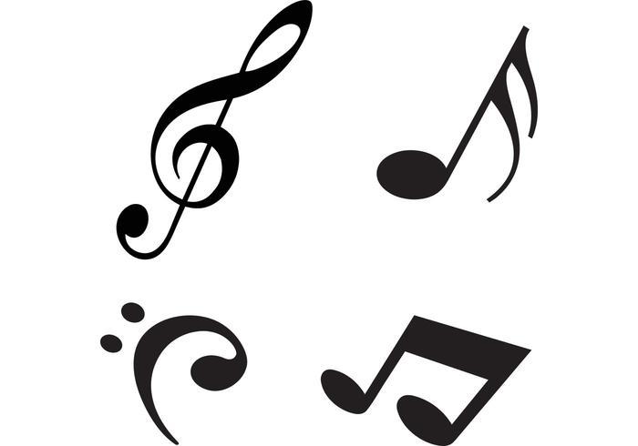Vetores de notas de música moderna