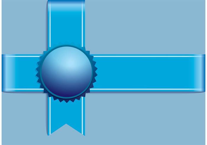 Vetor de fita azul