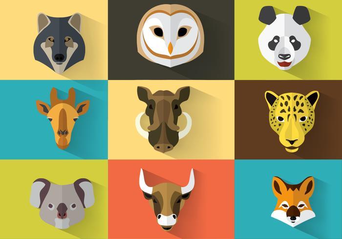 Retratos de vetores de animais selvagens