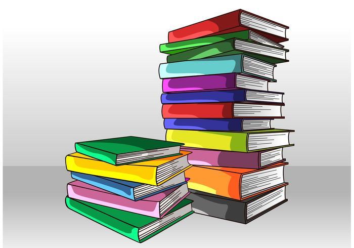 Vetor de Pilha de Livros