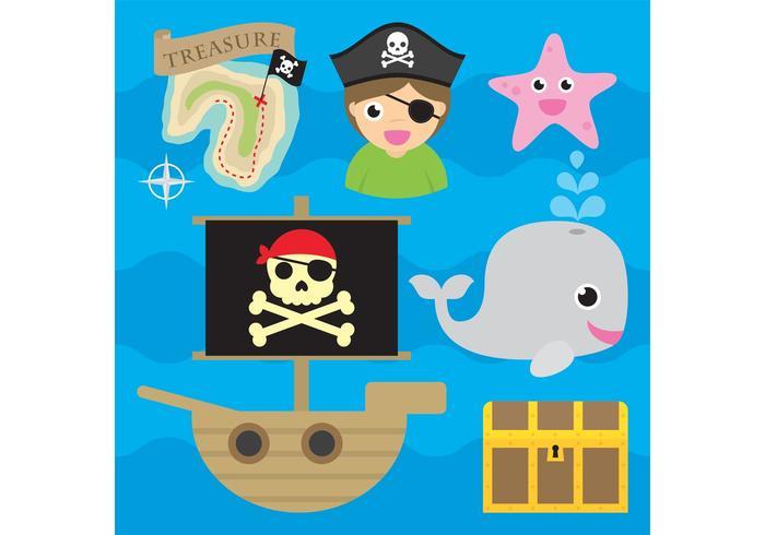 Ícones do vetor pirata